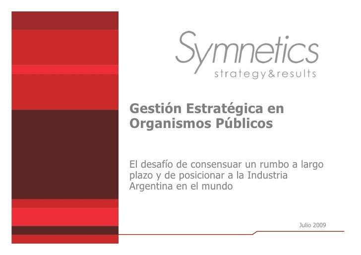 Gestión Estratégica En Organismos Públicos - Caso CNI