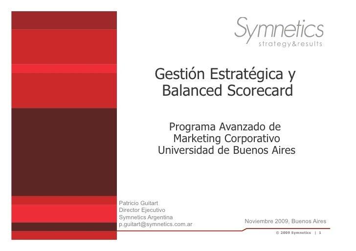 Gestión Estrategia, Balanced Scorecard, Guitart