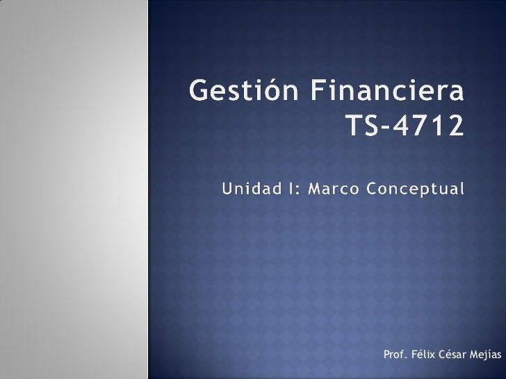 Gestión financiera unidad I