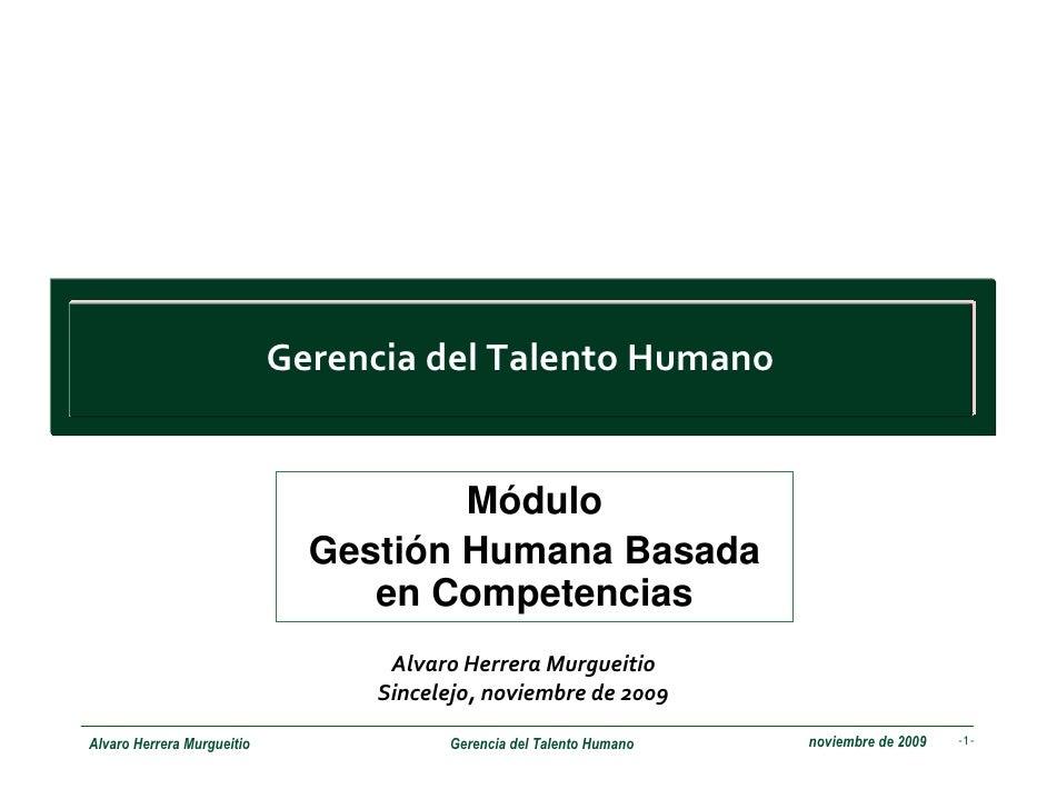 GestióN Humana Basada Competencias
