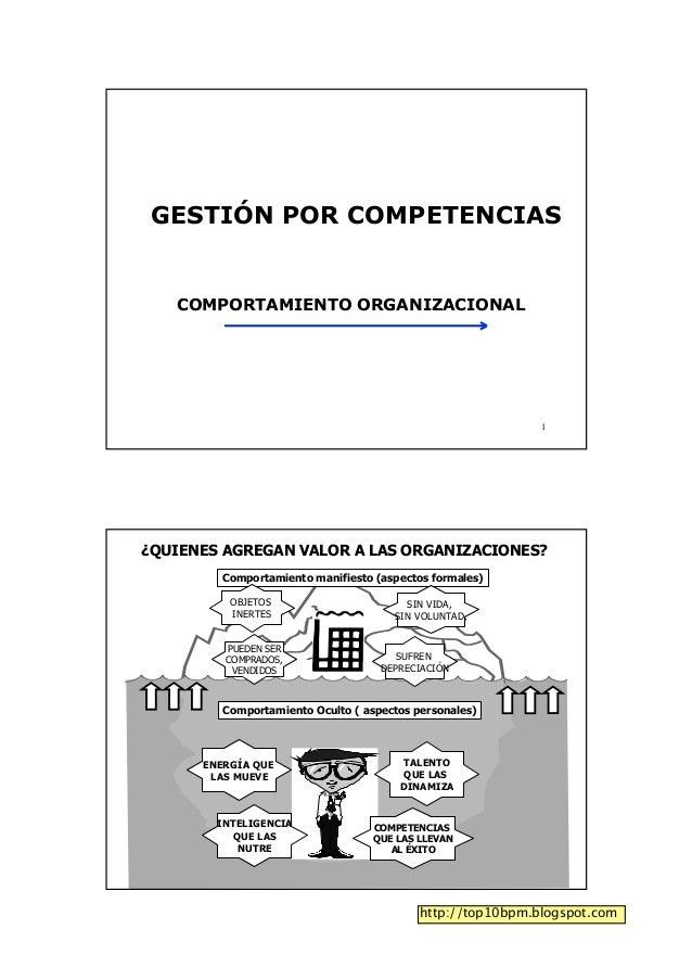 Gestión por competencias - Comportamiento organizacional