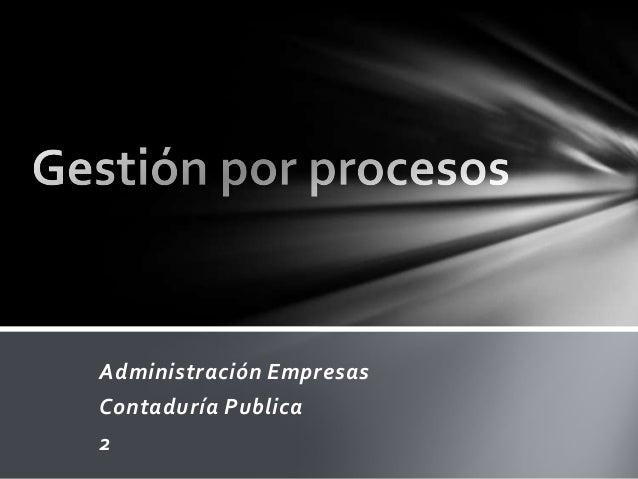 Gestión por procesos clase 20 agosto 2013