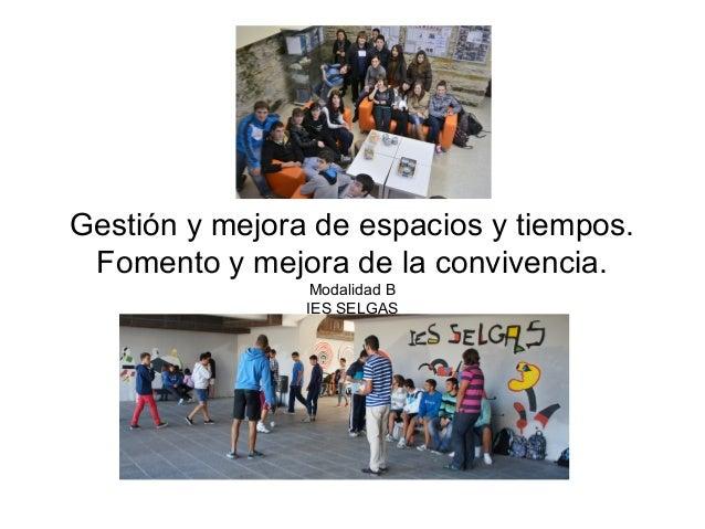 Gesti n y mejora de espacios y tiempos fomento y mejora - Gestion de espacios ...