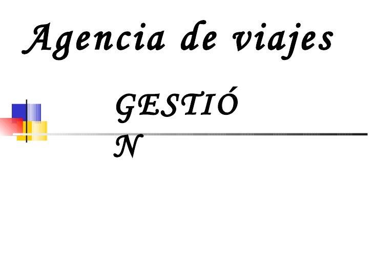 Agencia de viajes GESTIÓN