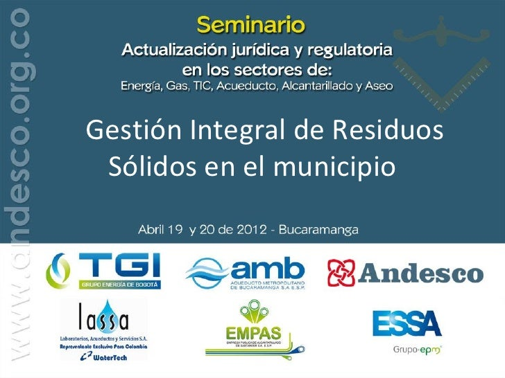 Gestión Integral de Residuos Sólidos en el municipio