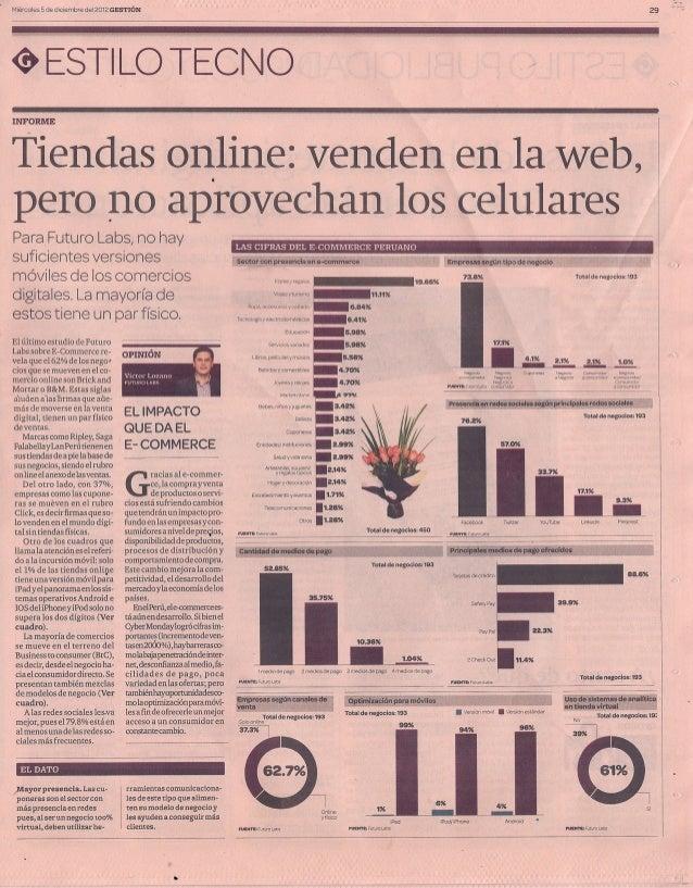 Gestion - Segundo Estudio de Comercio Electronico en el Peru