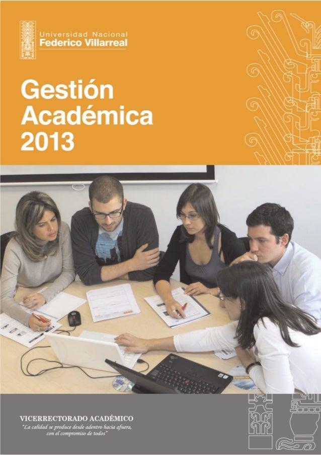 Gestion academica 2013