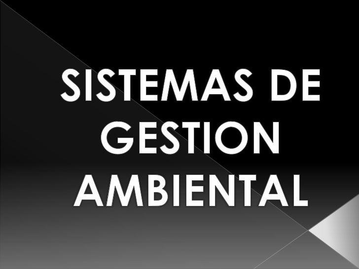 SISTEMAS DE GESTION <br />AMBIENTAL<br />
