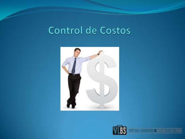 Control de Costos<br />