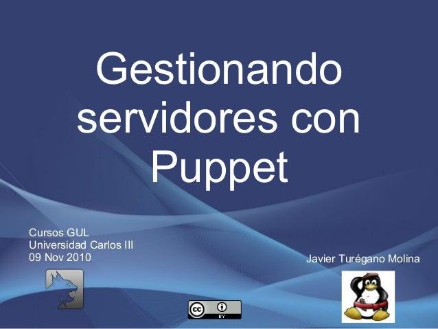 Gestionando servidores con Puppet