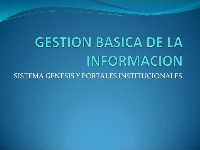 Gestion basica de la informacion