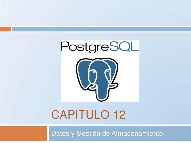CAPITULO 12<br />Datos y Gestión de Almacenamiento<br />