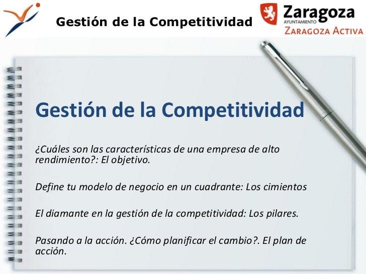 Gestion de la competitividad