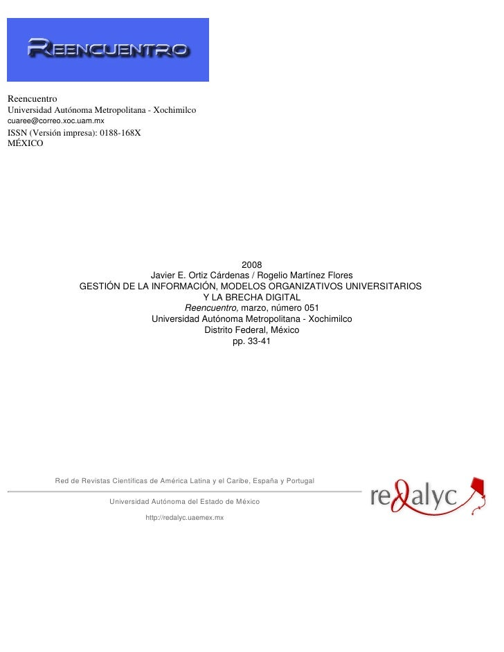 ReencuentroUniversidad Autónoma Metropolitana - Xochimilcocuaree@correo.xoc.uam.mxISSN (Versión impresa): 0188-168XMÉXICO ...