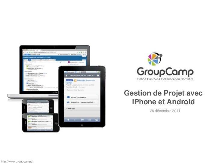 Online Business Collaboration Software                          Gestion de Projet avec                            iPhone e...
