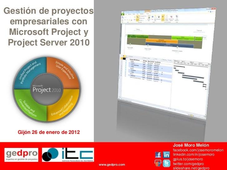 Gestion de proyectos empresariales con microsoft project 2010 y project server 2010
