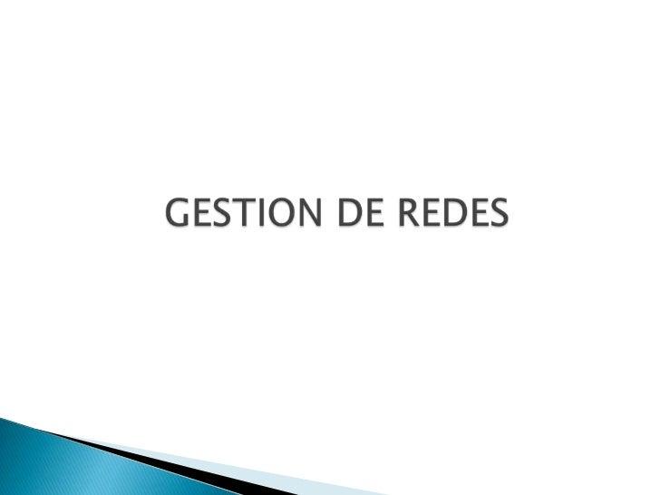IntroducciónPlanificación de la Gestión de RedFuncionalidad de la Gestión de RedArquitectura TMNModelo de Gestión de Red O...