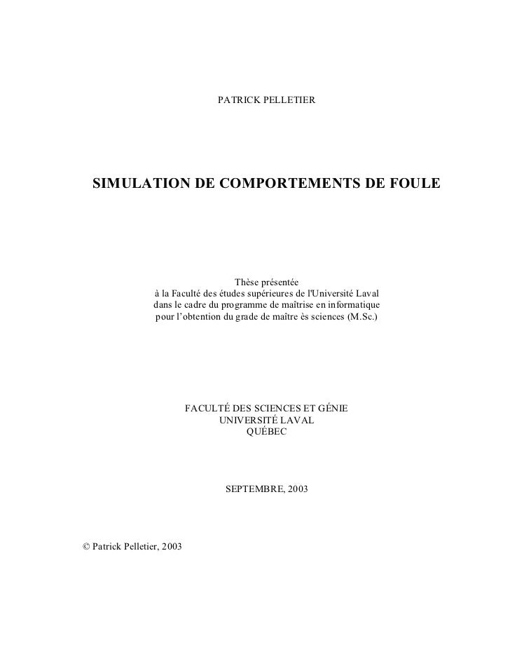Simulation de comportements de foule