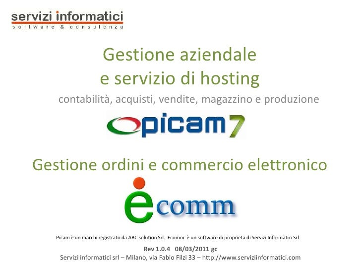 Picam7 - Gestione aziendale