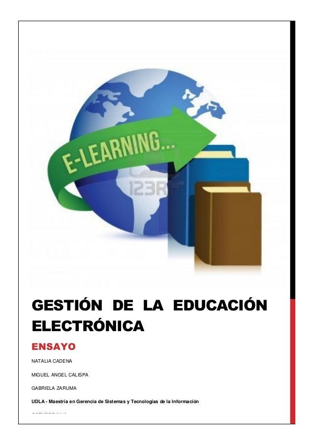 Gestión eduacion electronica (e-educación)