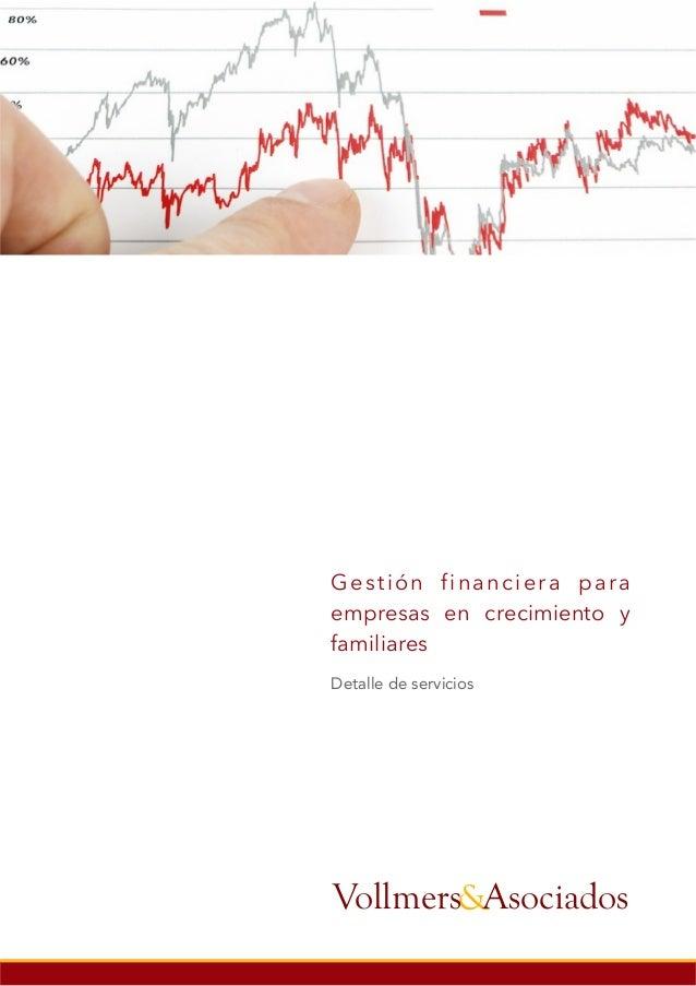 Gestión financiera para empresas en crecimiento y familiares Detalle de servicios &AsociadosVollmers