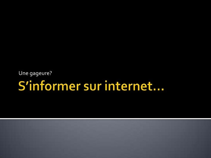 Gestion information internet_presentation2