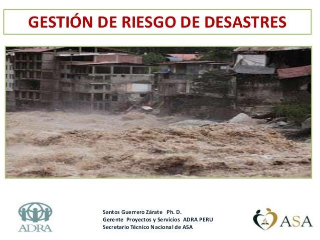 Gestion integral de riesgo de desastres
