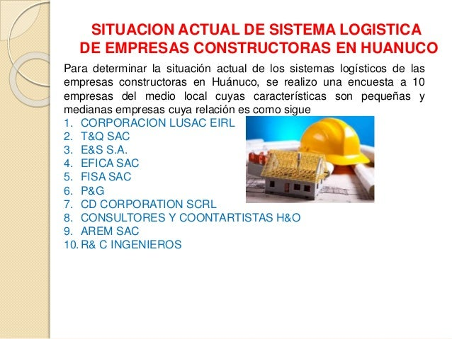 Gestion logistica lusac for Empresas constructoras