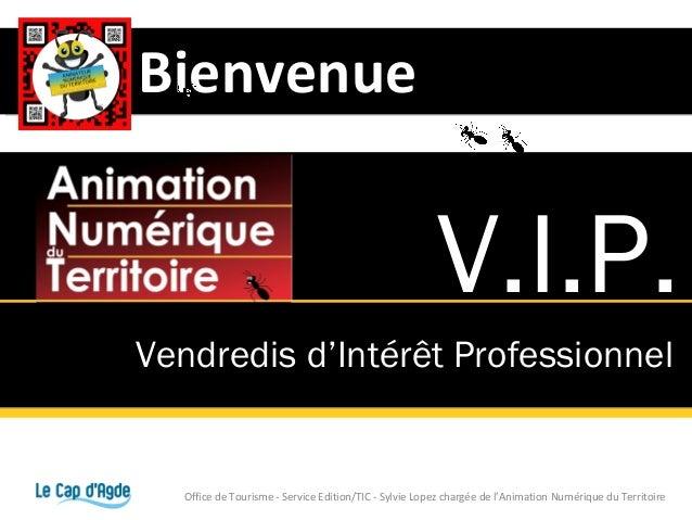 Bienvenue                                                        V.I.P.Vendredis d'Intérêt Professionnel   Office de Touri...
