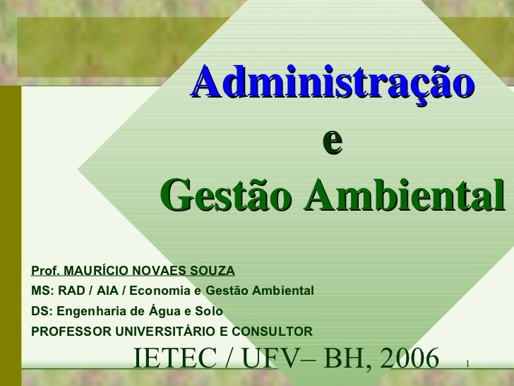 Gestão ambiental e administração