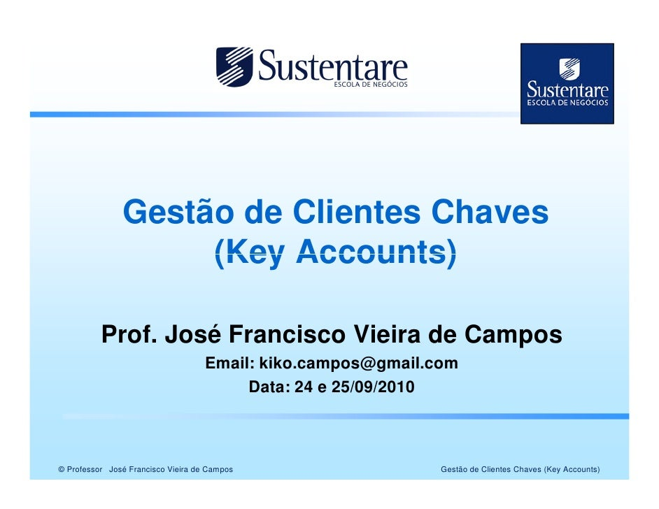 Gestão de clientes chave key accounts