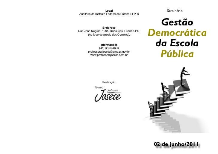 Gestão democrática flyer mail