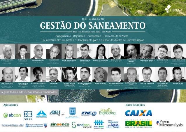10 e 11 de abril de 2013                                                                  GESTÃO DO SANEAMENTO            ...
