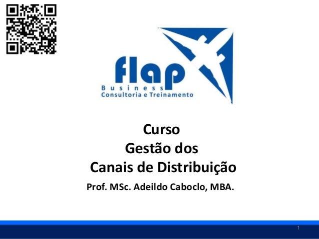 1 Curso Gestão dos Canais de Distribuição Prof. MSc. Adeildo Caboclo, MBA.