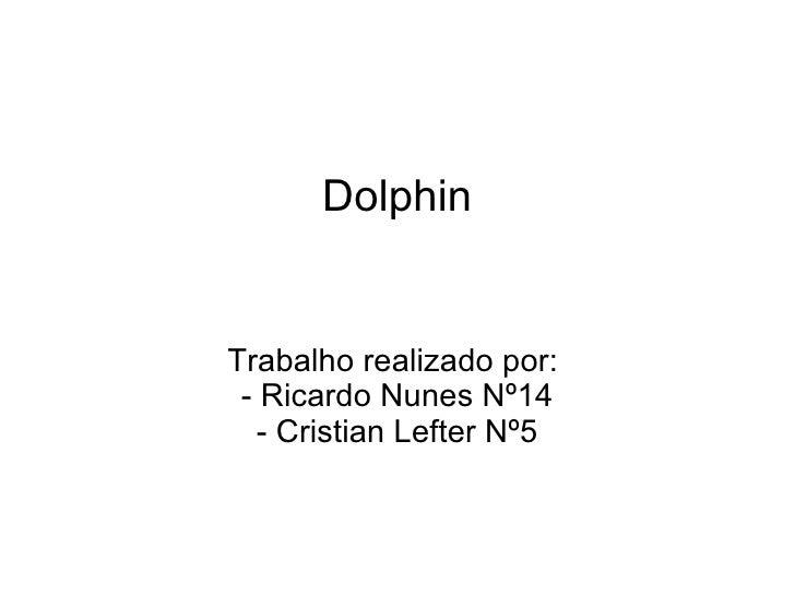 DolphinTrabalho realizado por: - Ricardo Nunes Nº14   - Cristian Lefter Nº5