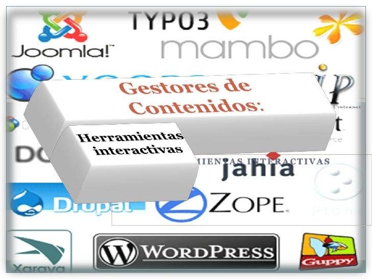 Presentación herramientas gestores de contenidos