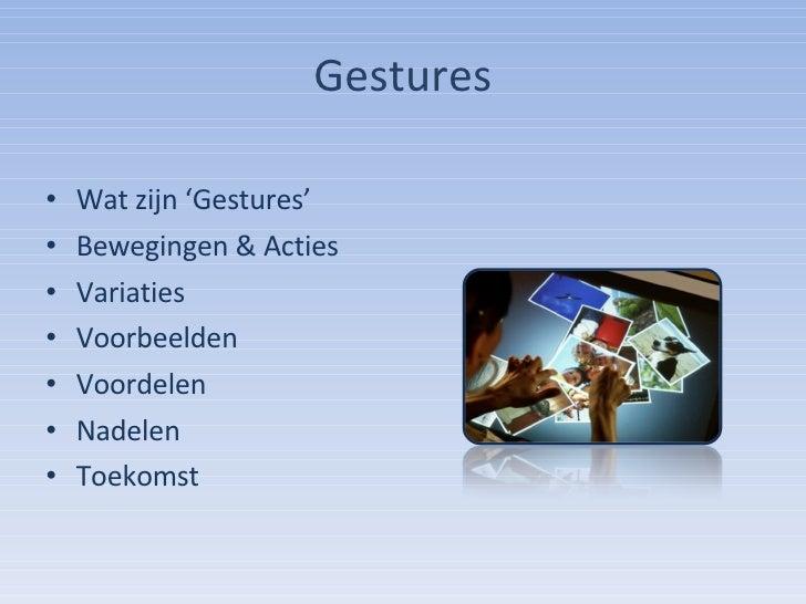 Gestures Presentatie