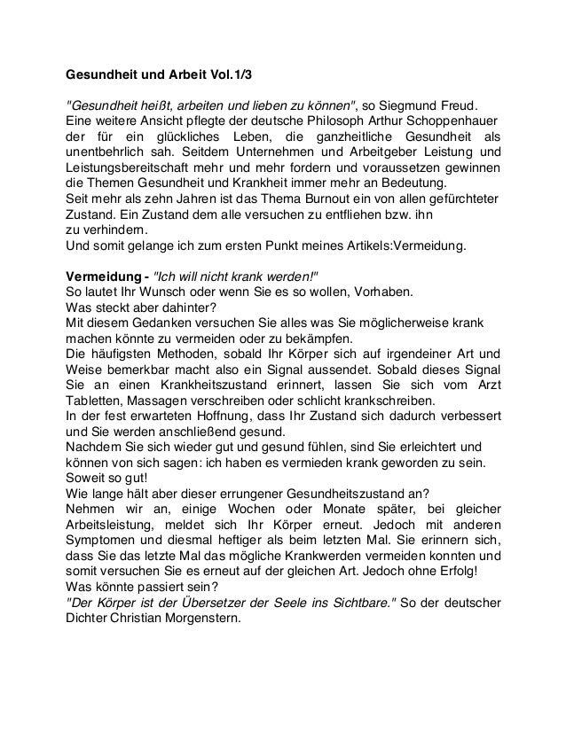 """Gesundheit und Arbeit Vol.1/3 """"Gesundheit heißt, arbeiten und lieben zu können"""", so Siegmund Freud. Eine weitere Ansicht p..."""