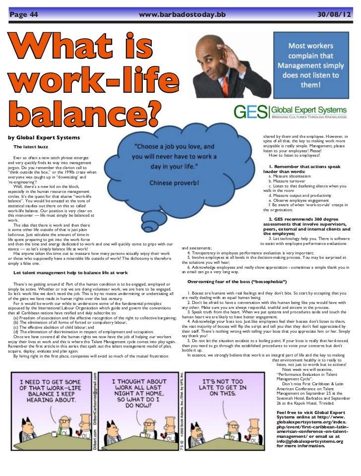 Talent Management & Work-Life Balance