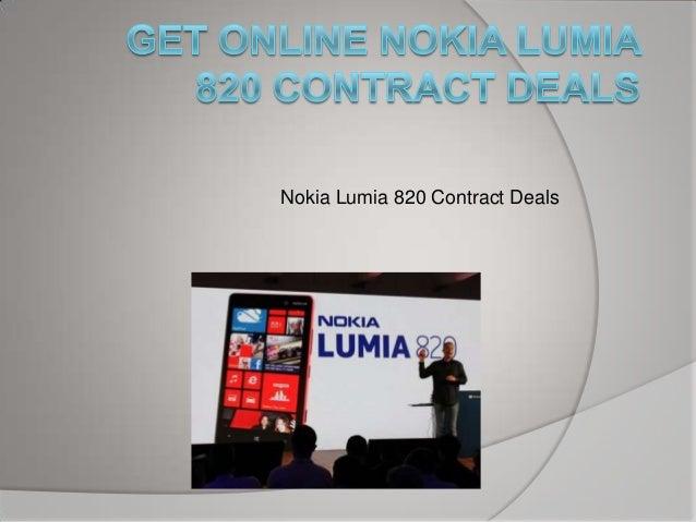 Get Online Nokia Lumia 820 Contract Deals