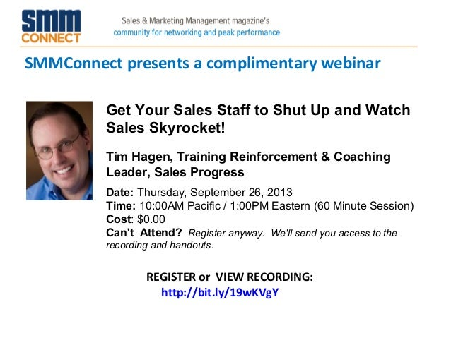 Get Your Sales Staff to Shut Up and Watch Sales Skyrocket!