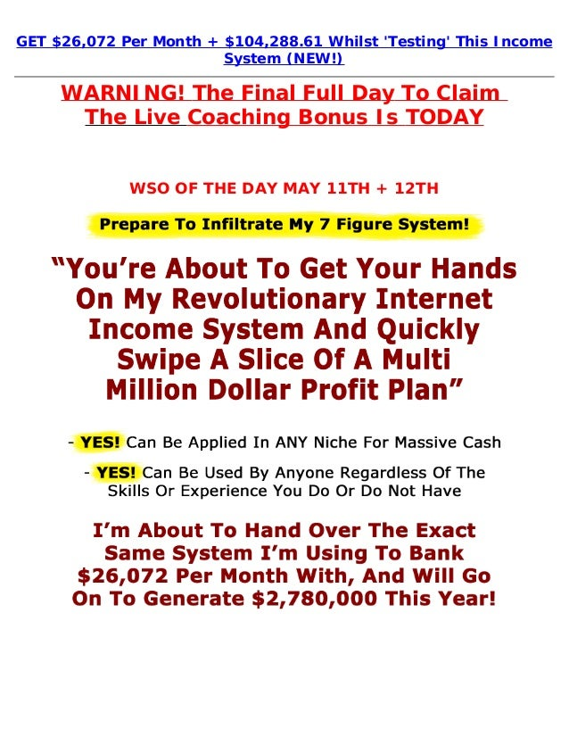 GET $26,072 Per Month + $104,288.61 Whilst Testing This IncomeSystem (NEW!)WARNING! The Final Full Day To Claim The Live C...