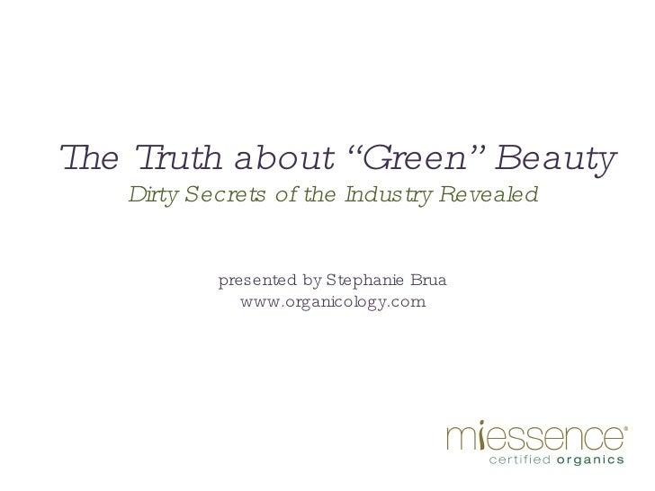 Green Beauty Presentation