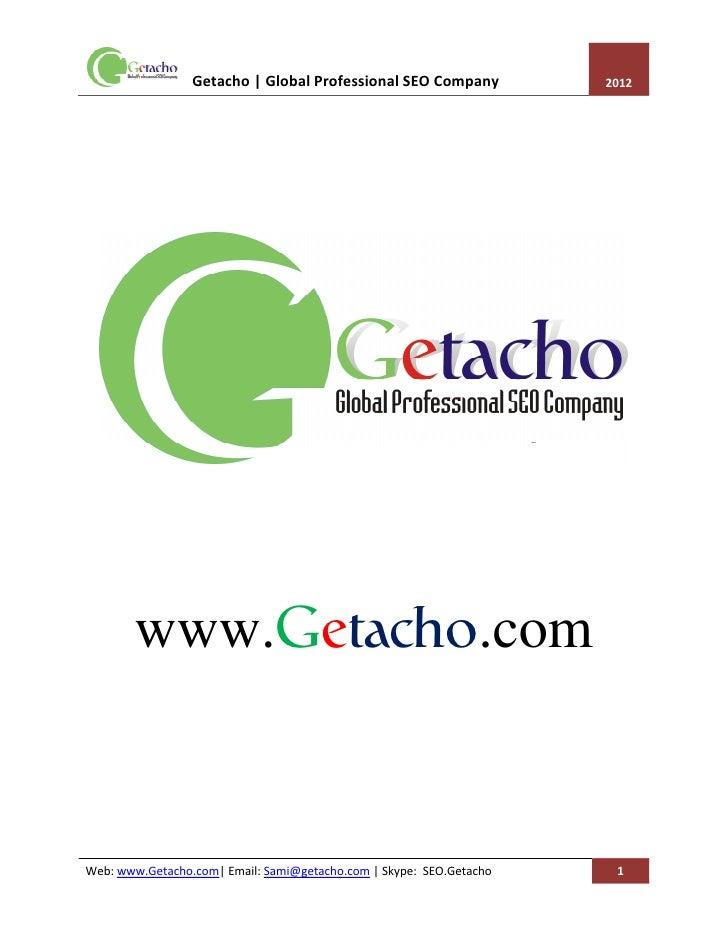 Professional SEO Company Profile