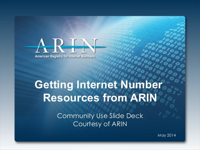 Get Internet Number Resources from ARIN (IPv4, IPv6, ASNs)