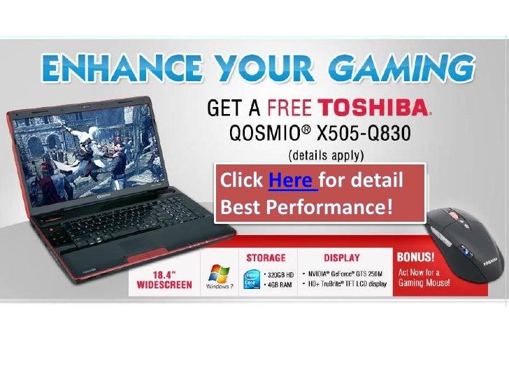 Get a free toshiba qosmio