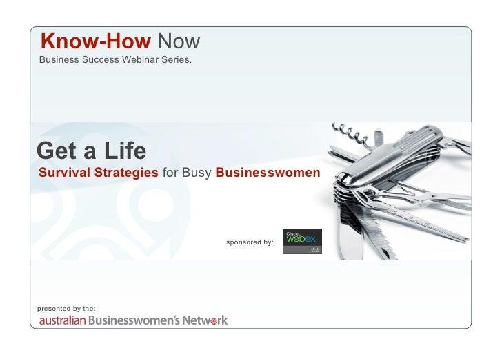 Get A Life Webinar