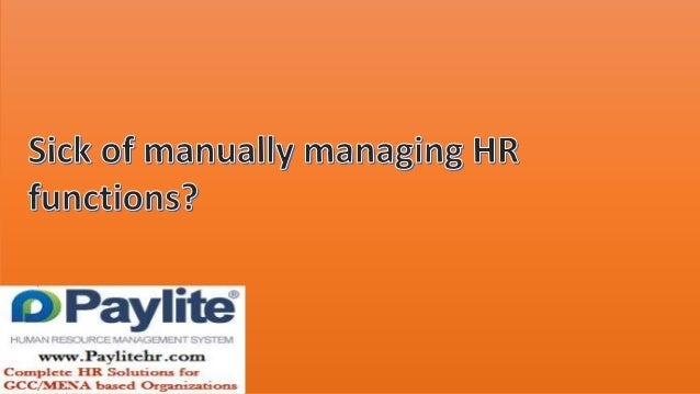 Manual HR functioning issues by using Paylite HRMS, Payroll Management Software & full HR Solutions for GCC & MENA users