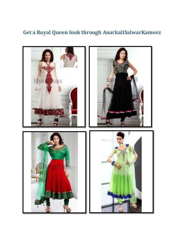 Get a royal queen look through anarkali salwar kameez