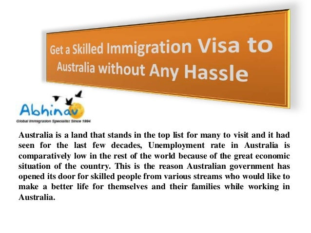 Get a skilled immigration visa to australia without